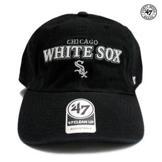 【メール便対応】'47 CLEAN UP CAP CHICAGO WHITE SOX【BLACK】