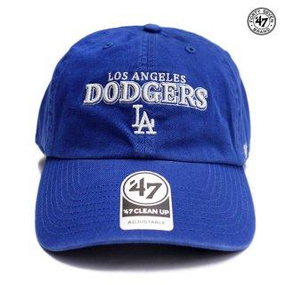 【メール便対応】47 BRAND CLEAN UP CAP LOS ANGELES DODGERS【BLUE】