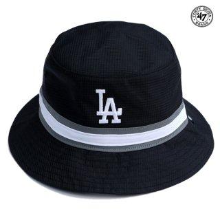 【メール便対応】47 BRAND SWIFT BUCKET HAT LOS ANGELES DODGERS【BLACK】