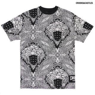 【送料無料】CROOKS & CASTLES BANDITO PAISLEY AOP Tシャツ【BLACK】