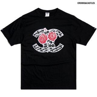 【送料無料】CROOKS & CASTLES ROSES Tシャツ【BLACK】