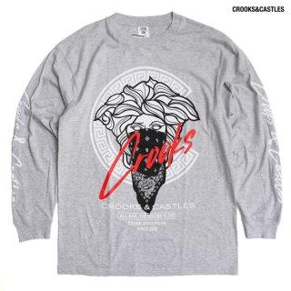 【送料無料】CROOKS & CASTLES C SCRIPT L/S Tシャツ【H.GRAY】