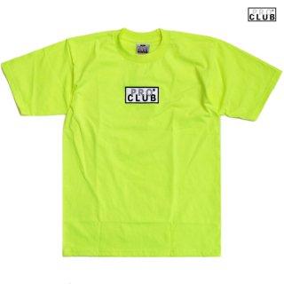 【メール便対応】PRO CLUB BOX LOGO Tシャツ【SAFETY GREEN】