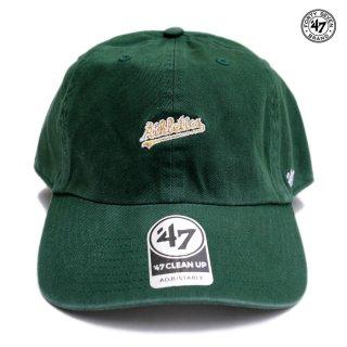 【メール便対応】47 BRAND CLEAN UP CAP OAKLAND ATHLETICS【DARK GREEN】