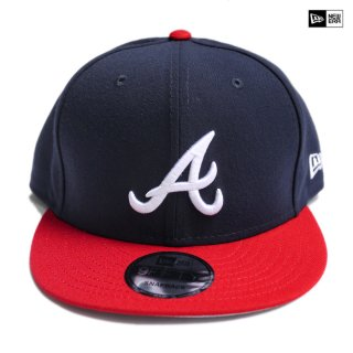 【送料無料】NEW ERA SNAPBACK CAP ATLANTA BRAVES【NAVY×RED】