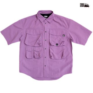 【送料無料】FIRST DOWN VENTILATION S/S SHIRTS【PURPLE】