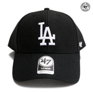 47 BRAND MVP CAP LOS ANGELES DODGERS【BLACK×WHITE】