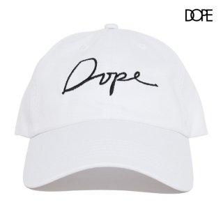 【送料無料】DOPE SCRIPT STRAPBACK CAP【WHITE】