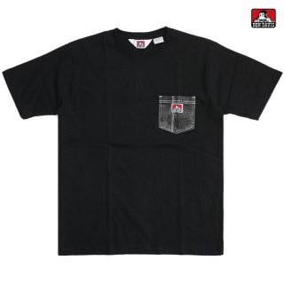 【メール便対応】BEN DAVIS DENIM POCKET Tシャツ【BLACK】