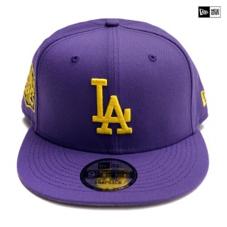【送料無料】NEW ERA SNAPBACK CAP LOS ANGELES DODGERS【PURPLE×YELLOW】