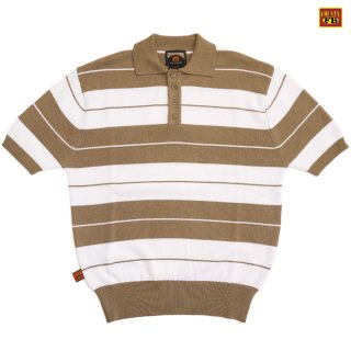 【送料無料】FB COUNTY CHARLIE BROWN POLO SHIRTS【BEIGE×WHITE】