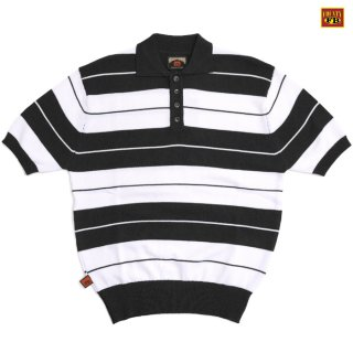 【送料無料】FB COUNTY CHARLIE BROWN POLO SHIRTS【BLACK×WHITE】