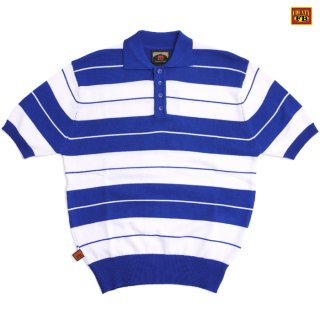 【送料無料】FB COUNTY CHARLIE BROWN POLO SHIRTS【BLUE×WHITE】