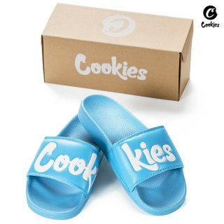 【送料無料】COOKIES SF ORIGINAL LOGO SLIDES【BLUE】