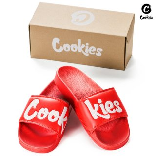 【送料無料】COOKIES SF ORIGINAL LOGO SLIDES【RED】