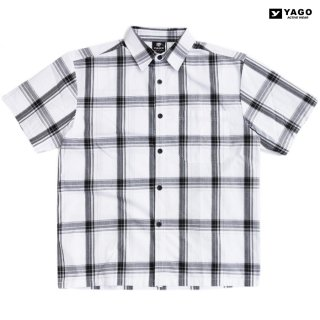 【送料無料】YAGO OPEN SHIRTS【WHITE×BLACK】