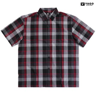 【送料無料】YAGO OPEN SHIRTS【BLACK×RED】