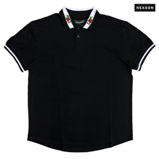 【送料無料】REASON CLOTHING REGAL POLO SHIRTS【BLACK】