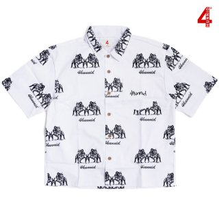 【送料無料】4 HUNNID OPEN SHIRTS【WHITE】