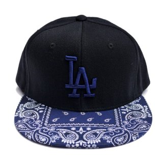 【送料無料】LA BANDANA CUSTOM SNAPBACK CAP【BLACK×NAVY】