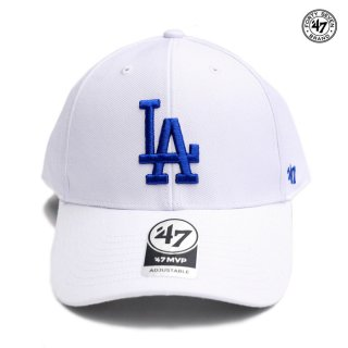 47 BRAND MVP CAP LOS ANGELES DODGERS【WHITE×BLUE】