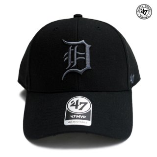 47 BRAND MVP CAP DETROIT TIGERS【BLACK×GRAY】