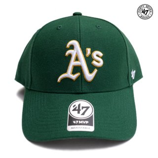 47 BRAND MVP CAP OAKLAND ATHLETICS【DARK GREEN】