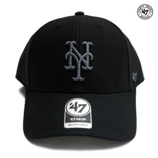 47 BRAND MVP CAP NEW YORK METS【BLACK×GRAY】