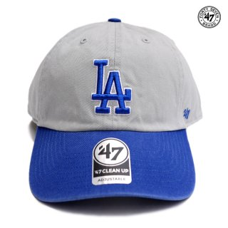 【メール便対応】'47 CLEAN UP CAP LOS ANGELES DODGERS【GRAY×BLUE】