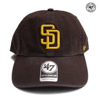 【メール便対応】47 BRAND CLEAN UP CAP SAN DIEGO PADRES【BROWN】