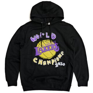 【送料無料】AFTER SCHOOL SPECIAL LOS ANGELES LAKERS NBA 2020 CHAMPIONSHIP FINALS PULLOVER HOODIE【BLACK】