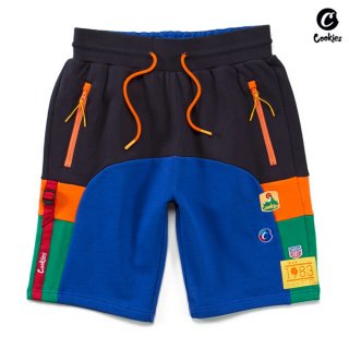 【送料無料】COOKIES SF COLORES SWEAT SHORTS【NAVY×BLUE】