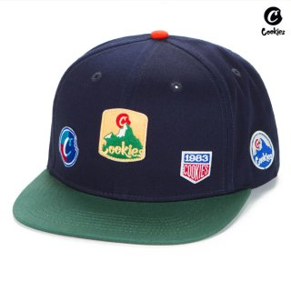 【送料無料】COOKIES SF COLORES SNAPBACK CAP【NAVY×GREEN】