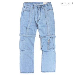 【送料無料】MNML V265 BAGGY DENIM PANTS【LIGHT BLUE】