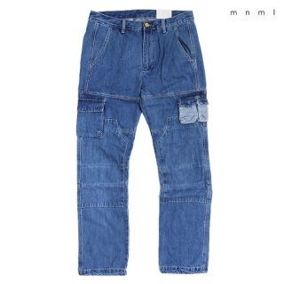 【送料無料】MNML V244 CARGO DENIM PANTS【WASH BLUE】