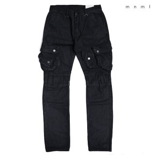 【送料無料】MNML WAXED CARGO DENIM PANTS【BLACK】