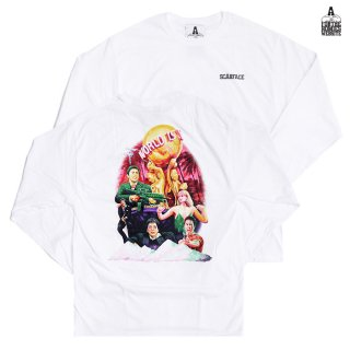 【送料無料】FOR THE HOMIES SCARFACE L/S Tシャツ【WHITE】