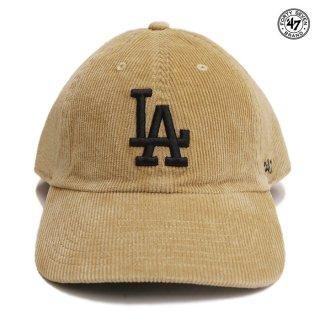 '47 CLEAN UP CORDUROY CAP LOS ANGELES DODGERS【KHAKI】