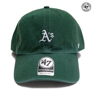 【メール便対応】'47 CLEAN UP CAP OAKLAND ATHLETICS【DARK GREEN】