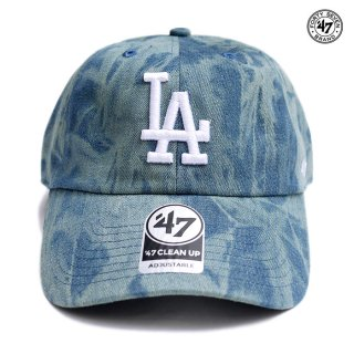 【送料無料】'47 CLEAN UP CAP LOS ANGELES DODGERS【WASH BLUE】