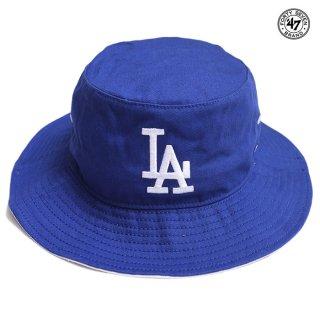 【メール便対応】'47 KIRBY BUCKET HAT LOS ANGELES DODGERS【BLUE】