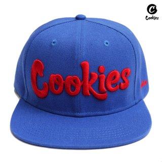 【送料無料】COOKIES SF THIN MINT SNAPBACK CAP【BLUE×RED】