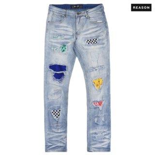 【送料無料】REASON CLOTHING PEEK DENIM PANTS【WASH BLUE】