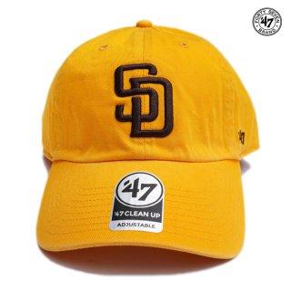 【メール便対応】'47 CLEAN UP CAP SAN DIEGO PADRES【YELLOW】
