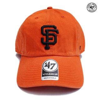 【メール便対応】'47 CLEAN UP CAP SAN FRANCISCO GIANTS【ORANGE】