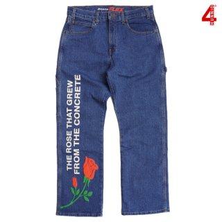 【送料無料】4 HUNNID RESES DENIM PANTS【INDIGO BLUE】