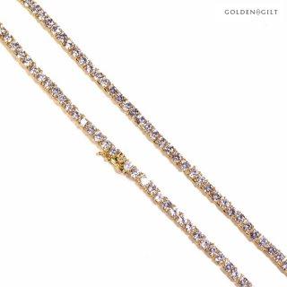 【送料無料】GOLDEN GILT TENNIS NECKLACE【GOLD】-22inch-