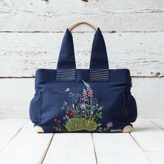 手刺繍バック 〜Flower Garden〜 【受注生産】