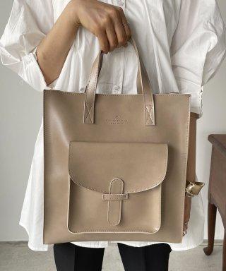 【A4サイズ】ショルダー付ポケットトートバッグ