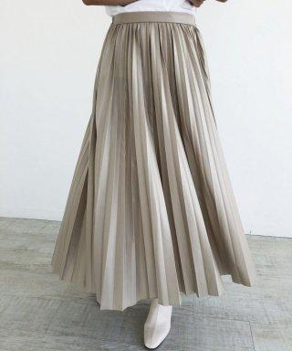 【anticrag】レザープリーツスカート